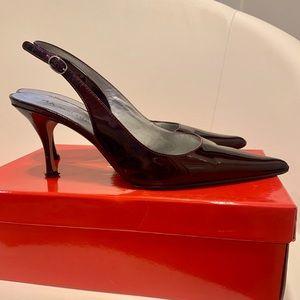 Anne Klein Akmakaya Wine Patent Shoe
